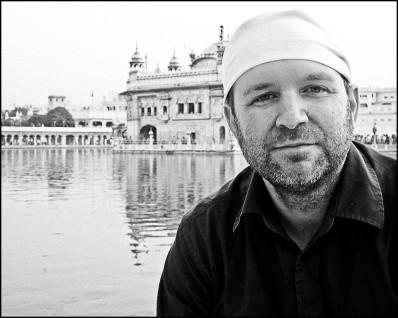 Enjoying some peacefulness at The Golden Temple, Punjab, India, 2010.
