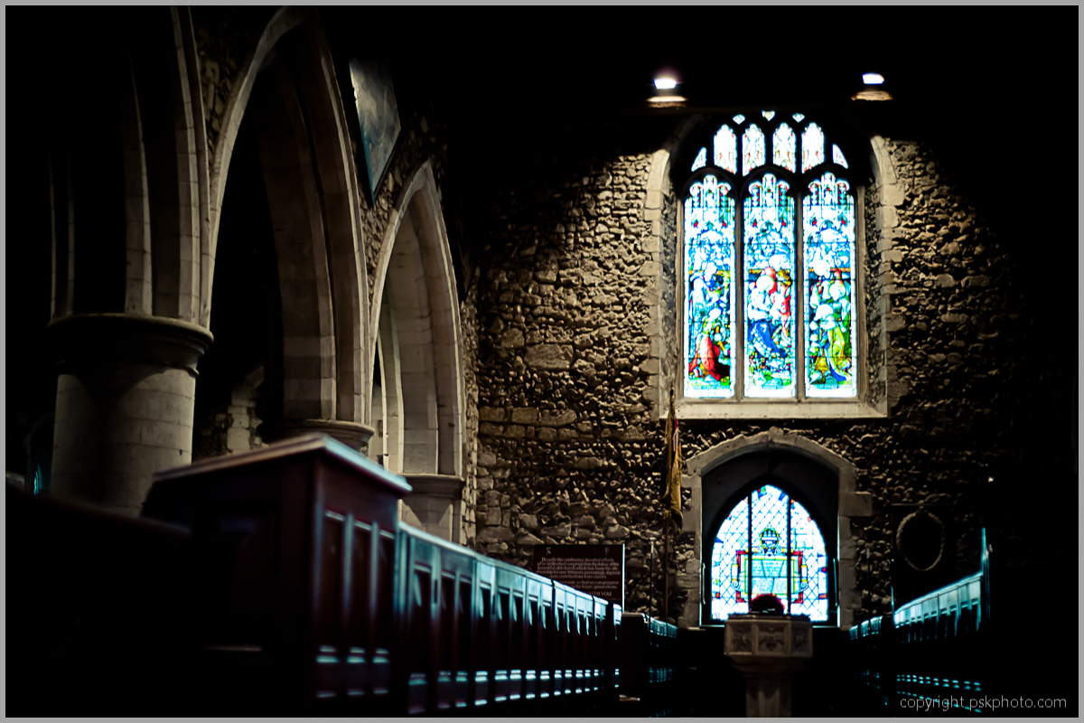 "This is a small 12th century church tucked away along a small road in South Buckinghamshire just outside London. It is so quiet and incredibly peaceful inside. Like lots of buildings like this, once inside, there is complete silence. Its like being transported to another world almost. I had just finished watching the tv show ""The Tudors"" and thought I'd check it out and have a look around. Next stop.....Hampton Court Palace!"