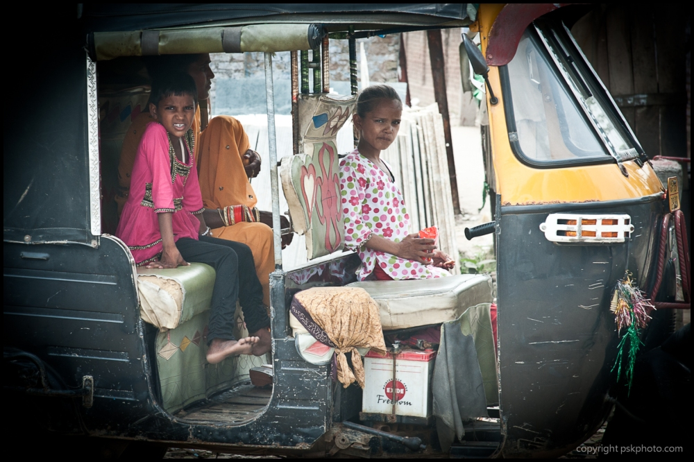 Kids in Auto Rikshaw