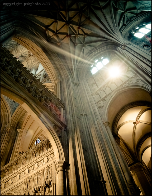 Inside View of Canterbury Cathedral, Kent, 2013