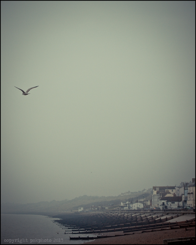 Mist moving in from the sea, Herne Bay, Kent, 2013