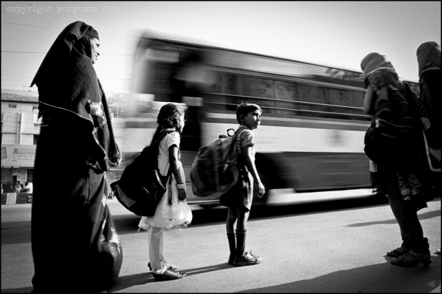 Morning rush hour, Secunderabad India, 2014