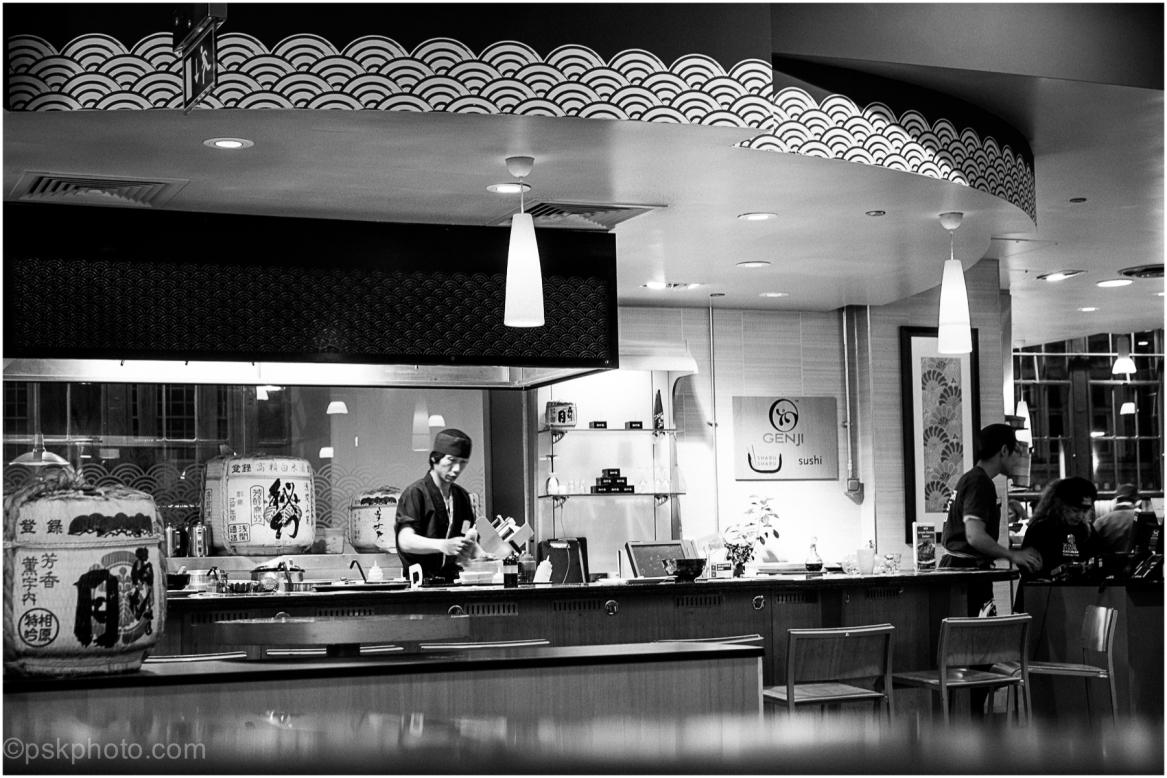 Sushi Bar, London's High Street Kensiington, 2014