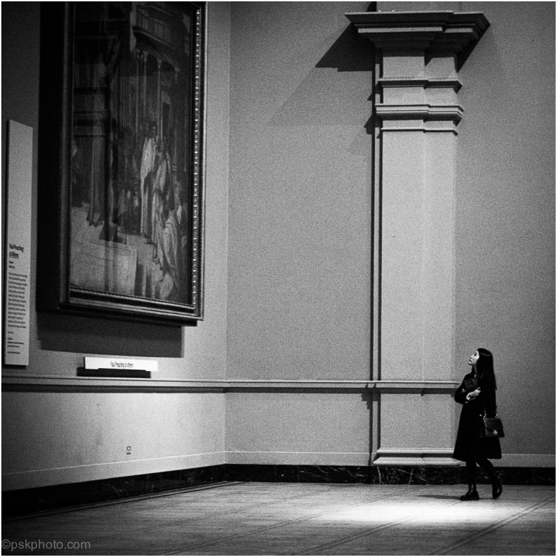 """A painter should begin every canvas with a wash of black, because all things in nature are dark except where exposed by the light.""  ― Leonardo da Vinci Inside the Victoria and Albert Museum, South Kensington, London, 2015"