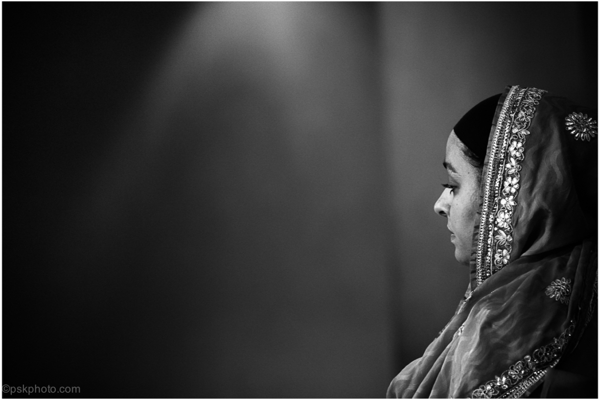 """""""When the solution is simple, God is answering"""" Albert Einstein An Indian lady listening to Hymns in the Sikh Temple. London, 2015"""
