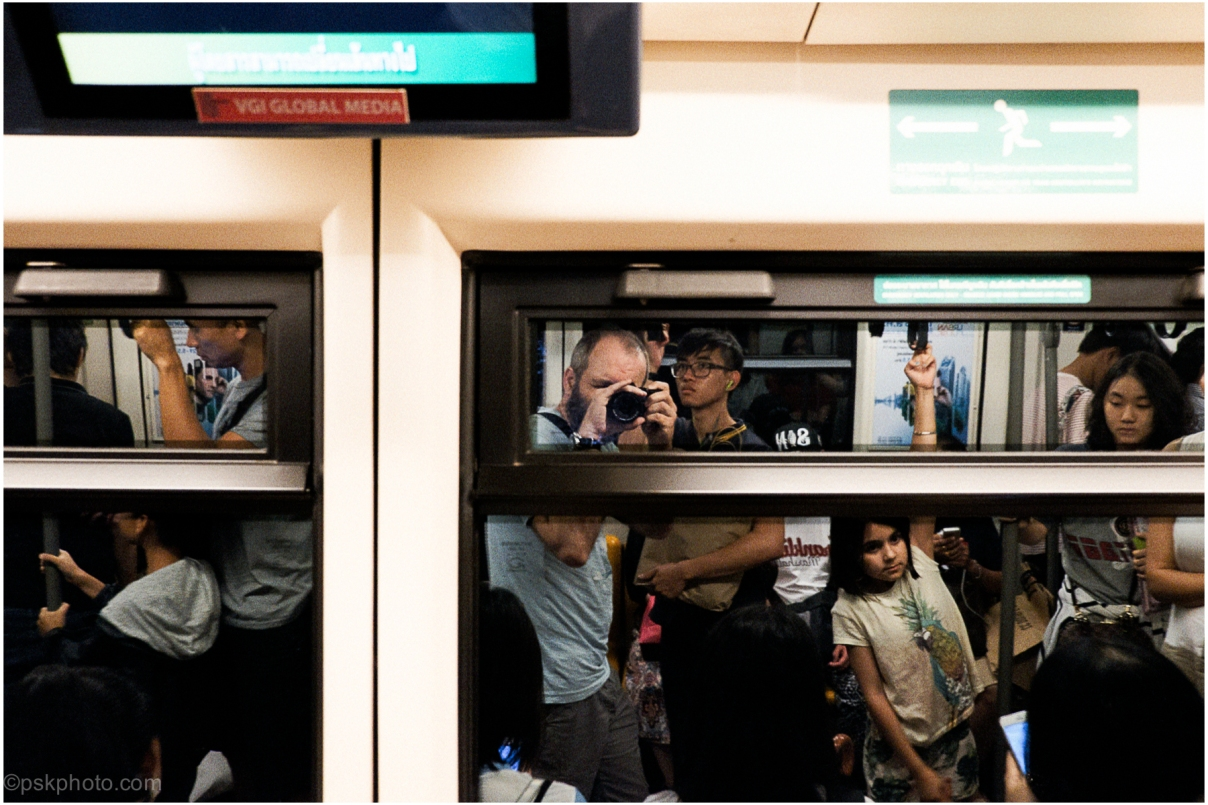 On the BTS SkyTrain, Bangkok, 2015
